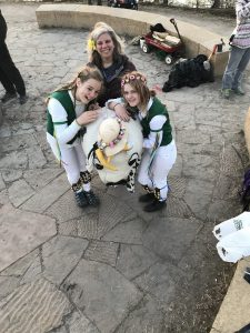 Amy Soderman with Morris dancers